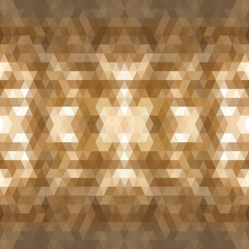 För triangelmosaik för mörk brunt bakgrund Den idérika geometriska illustrationen i origami utformar med lutning Mallen kan vektor illustrationer