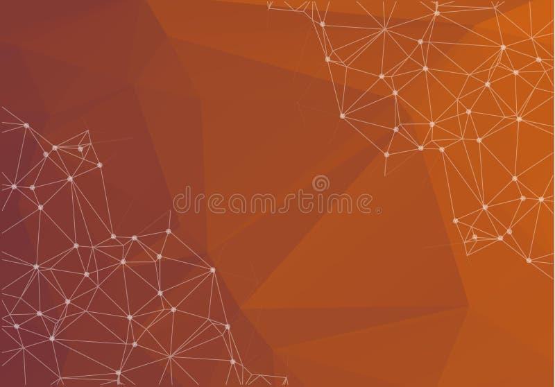 För triangelmosaik för mörk brunt bakgrund Idérik geometrisk illust stock illustrationer