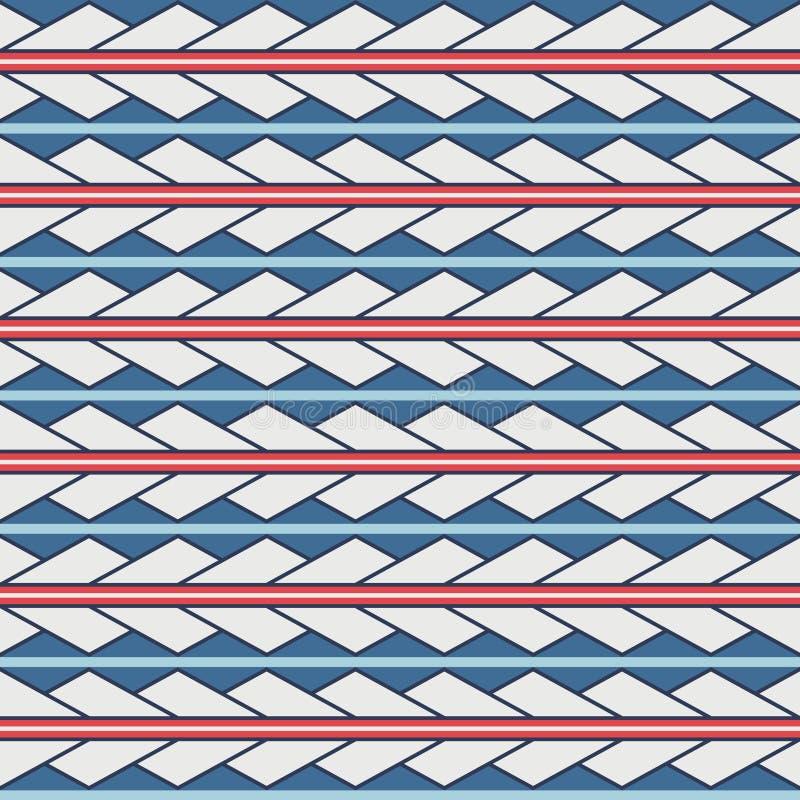 För triangelromben för vektorn smyckar den sömlösa modellen maori, etniskt, Japan stock illustrationer