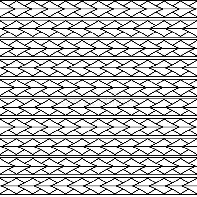 För triangelromben för vektorn smyckar den sömlösa modellen maori, etniskt, Japan stil stock illustrationer
