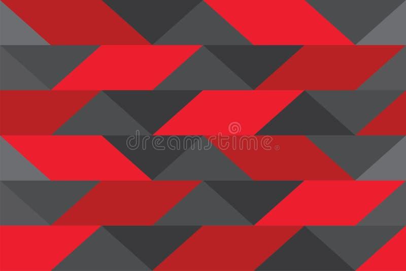 För triangeltextur för bakgrund modern stil för geomatric röda grå färger för gradering vektor illustrationer