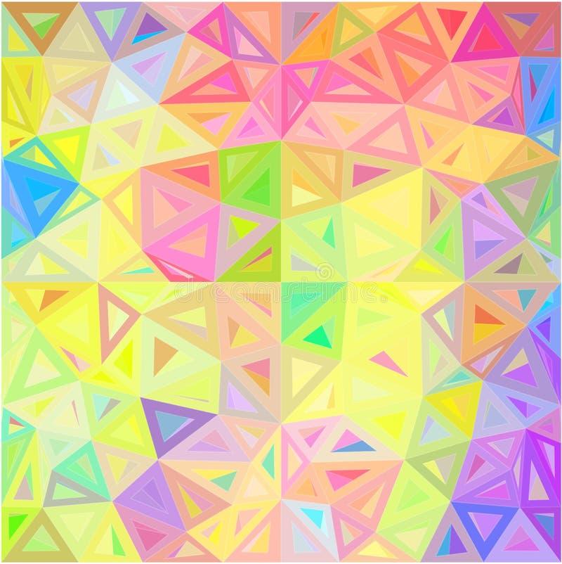 För triangelvektor för pastellfärgade färger abstrakt bakgrund stock illustrationer