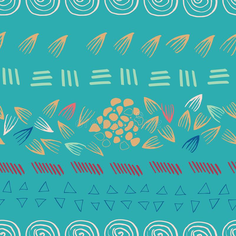 För tryckdesign för abstrakt aztec kricka sömlös bakgrund royaltyfri illustrationer