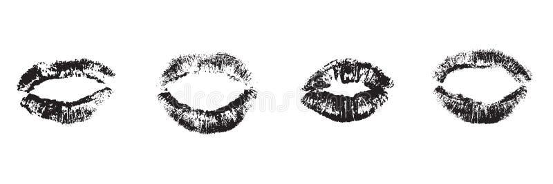 För tryckuppsättning för läppstift grafisk illustration för vektor royaltyfri illustrationer