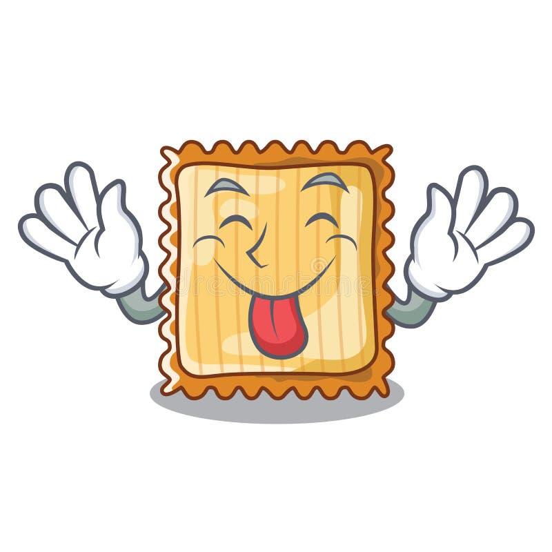 För tungan lasagne ut tjänas som i tecknad filmplattor royaltyfri illustrationer