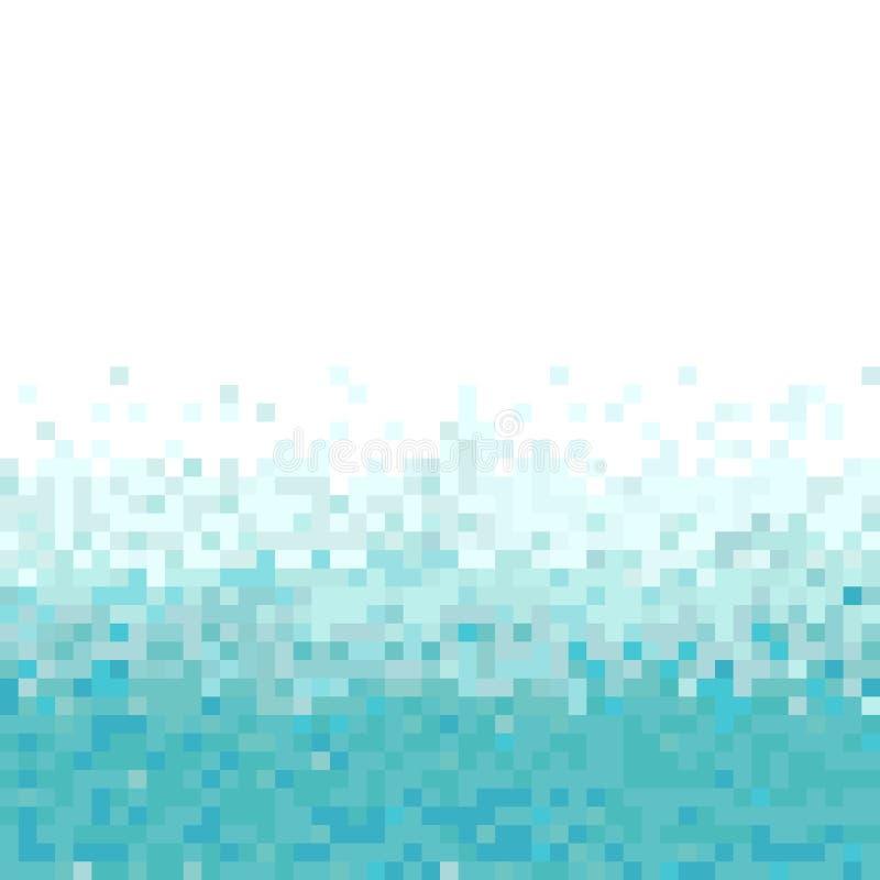 För turkos och abstrakt PIXELbakgrund för vit stock illustrationer