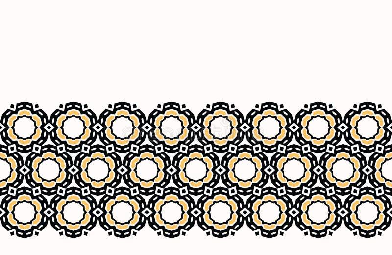 För tusenskönablomma för djärv hand utdragen geo för täcke Sömlös bakgrund för vektorgränsmodell Geometriskt abstrakt begrepp för royaltyfri illustrationer