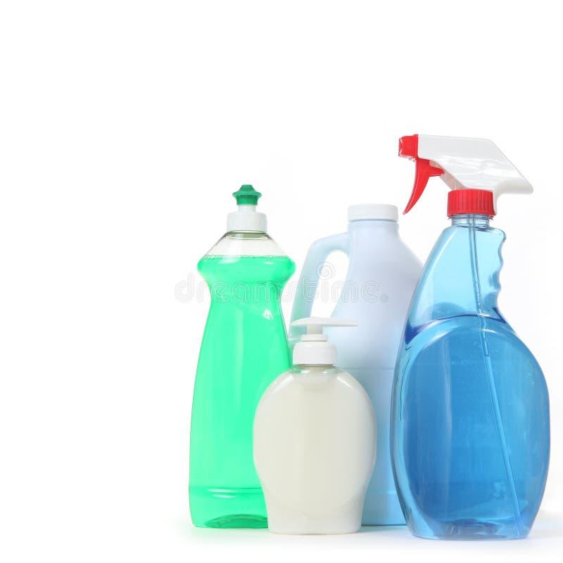 för tvålspray för blekmedel rena fönster fotografering för bildbyråer