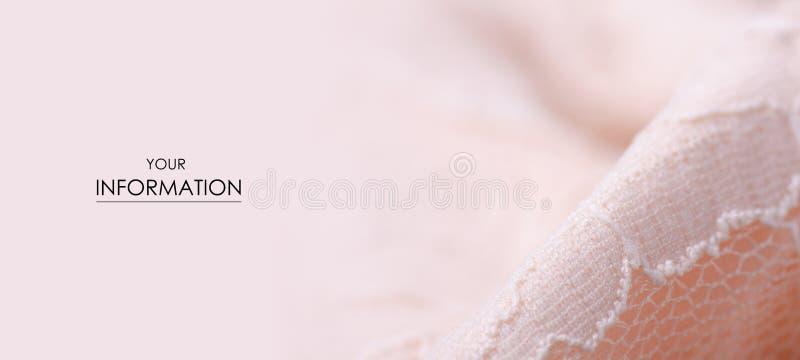 För tygtextil för persika modell för ingrepp för rosa textur för material openwork arkivfoto