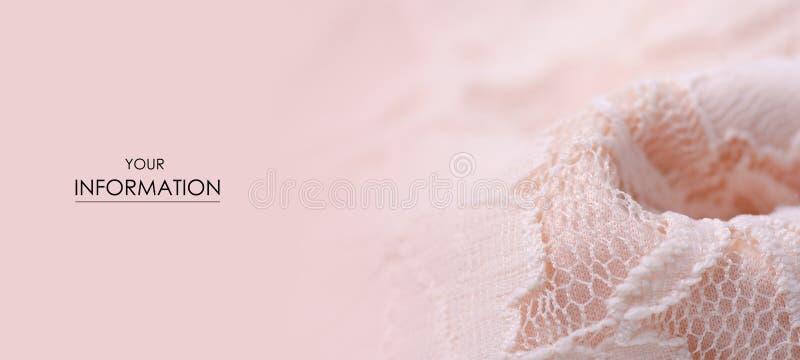 För tygtextil för persika modell för ingrepp för rosa textur för material openwork royaltyfri fotografi
