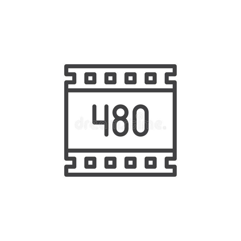 för upplösningsöversikt för 480 PIXEL symbol vektor illustrationer