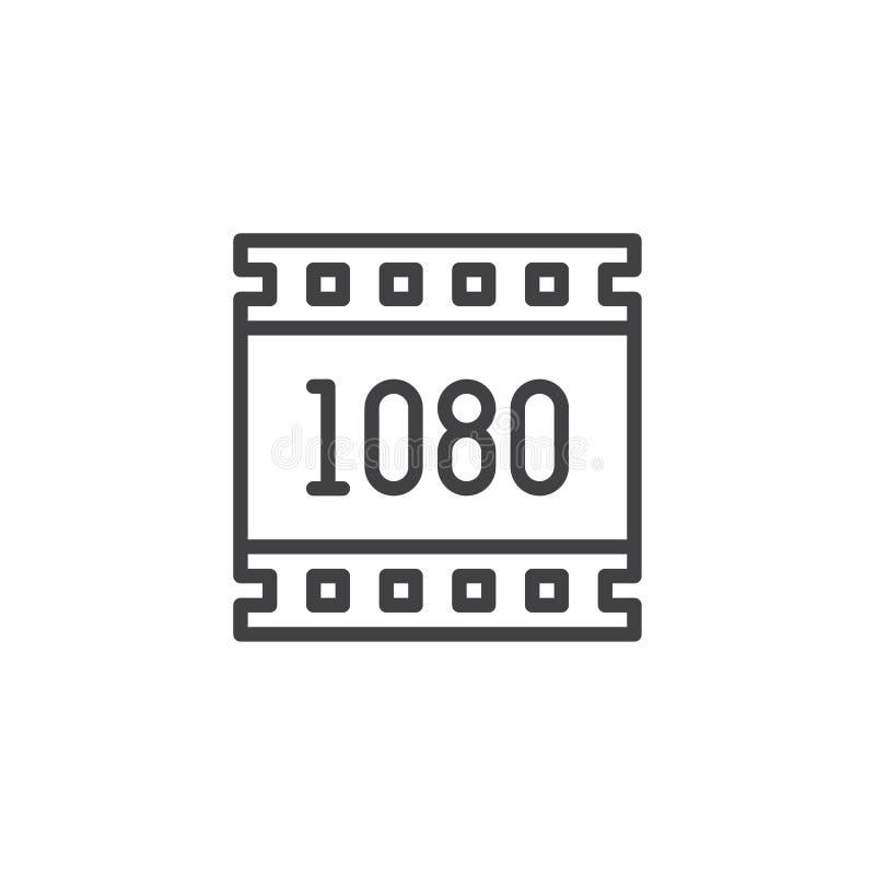 för upplösningsöversikt för 1080 PIXEL symbol royaltyfri illustrationer