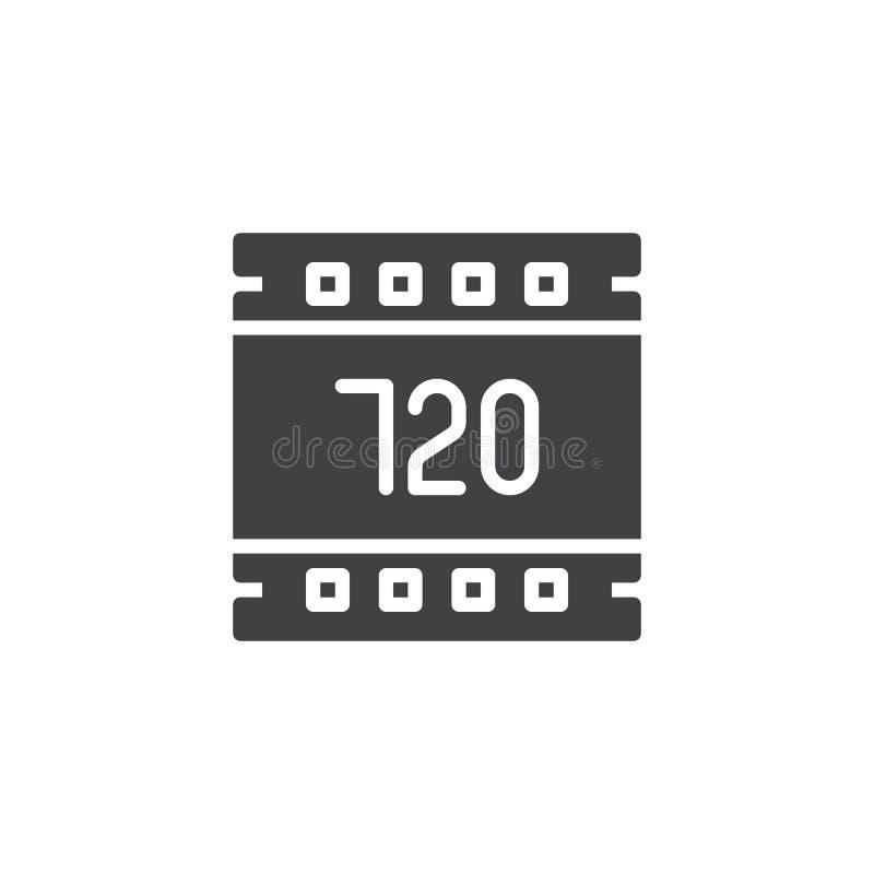 för upplösningsvektor för 720 PIXEL symbol vektor illustrationer
