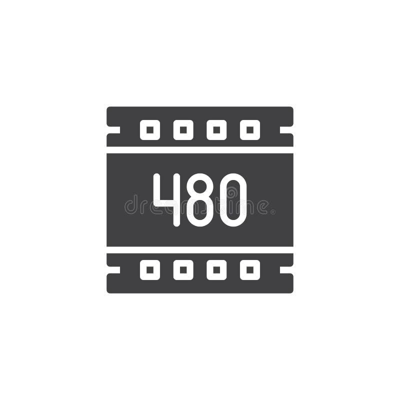 för upplösningsvektor för 480 PIXEL symbol royaltyfri illustrationer