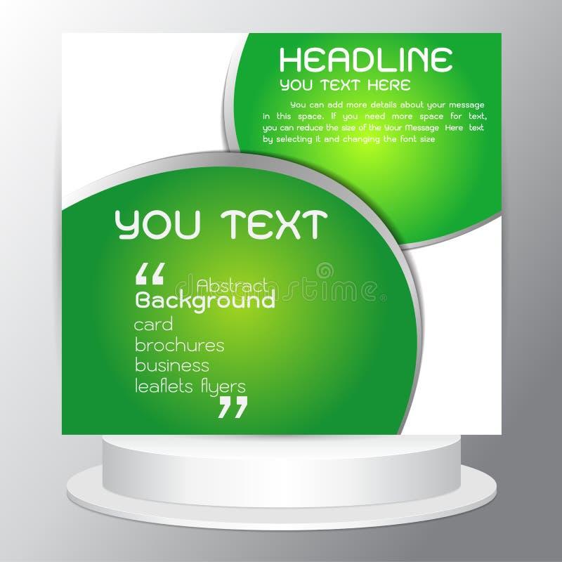 För uppsättningabstrakt begrepp för bakgrund moderna reklamblad för broschyrer för gräsplan för design för vektor vektor illustrationer