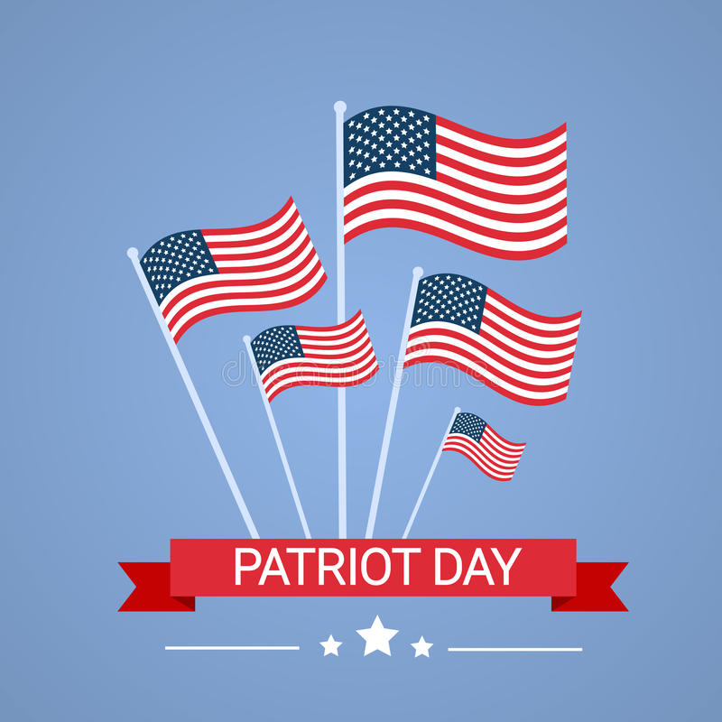 För USA för Förenta staternaflaggamedborgare baner för dag patriot royaltyfri illustrationer