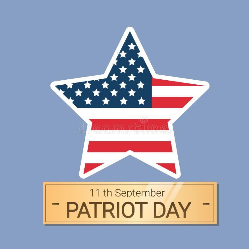 För USA för medborgare för Förenta staternaflaggastjärna baner för dag patriot royaltyfri illustrationer