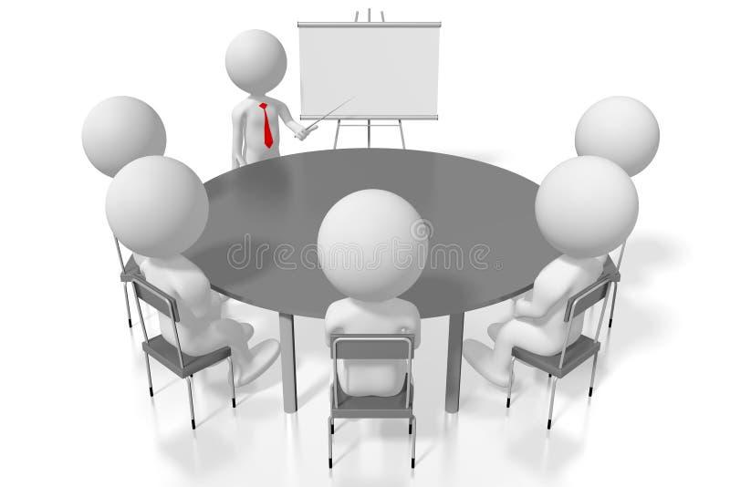 för utbildningsfall för seminar/3D begrepp för konferens för study/ royaltyfri illustrationer