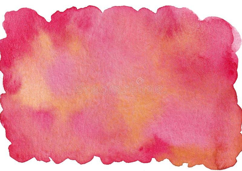 För utdragen rosa bakgrund vattenfärgabstrack för hand vektor illustrationer