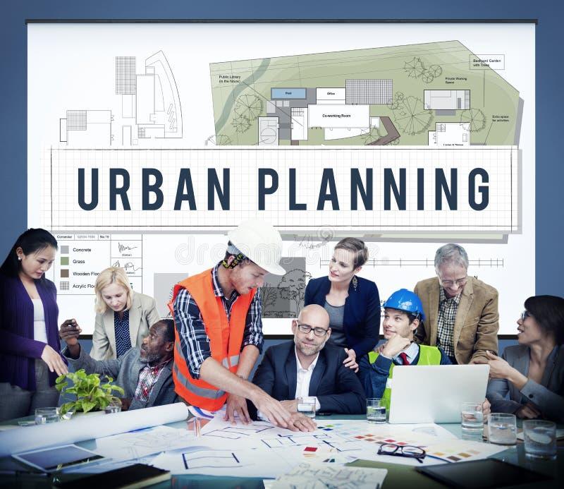 För utvecklingsbyggande för stads- planläggning begrepp för design royaltyfria foton