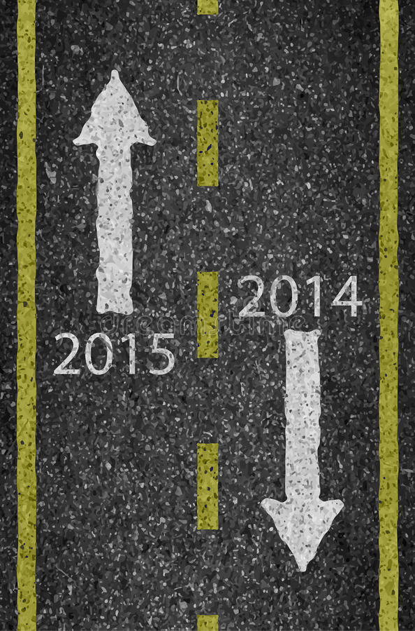För väg- och asfaltbakgrund för nytt år 2015 textur med något fint vektor illustrationer