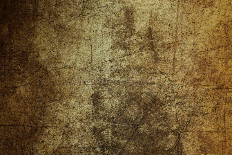 För väggtextur för bakgrund som skrapad brun grunge för abstrakt begrepp fördärvas arkivbild