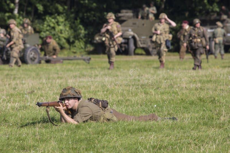 För världskrig för britt andra soldat royaltyfria foton
