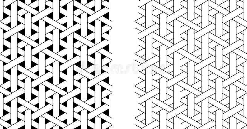 För vävrotting för översikt sömlös modell, vektorkonst stock illustrationer