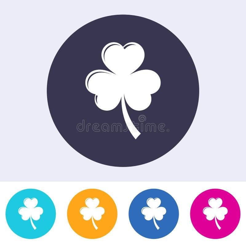 För växt av släktet Trifoliumtjänstledigheter för enkel vektor rund abstrakt symbol stock illustrationer