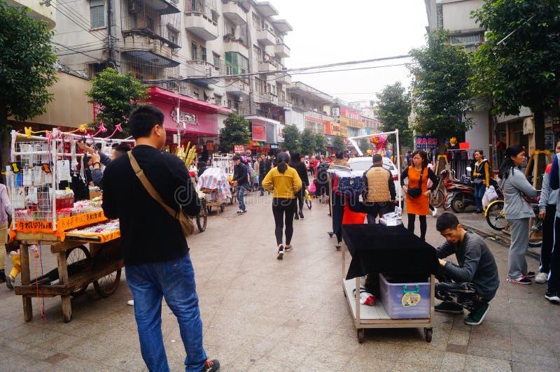 För vårfestivalen Xixiang fot- gatalandskap royaltyfri fotografi