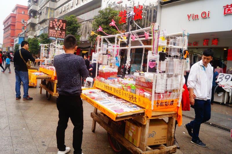 För vårfestivalen Xixiang fot- gatalandskap royaltyfri bild