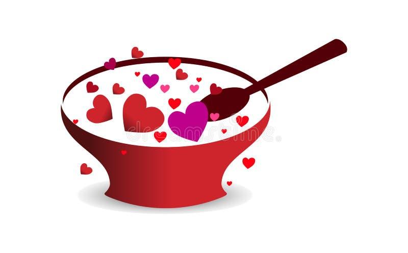 För valentin` s för förälskelse lycklig dag royaltyfri illustrationer
