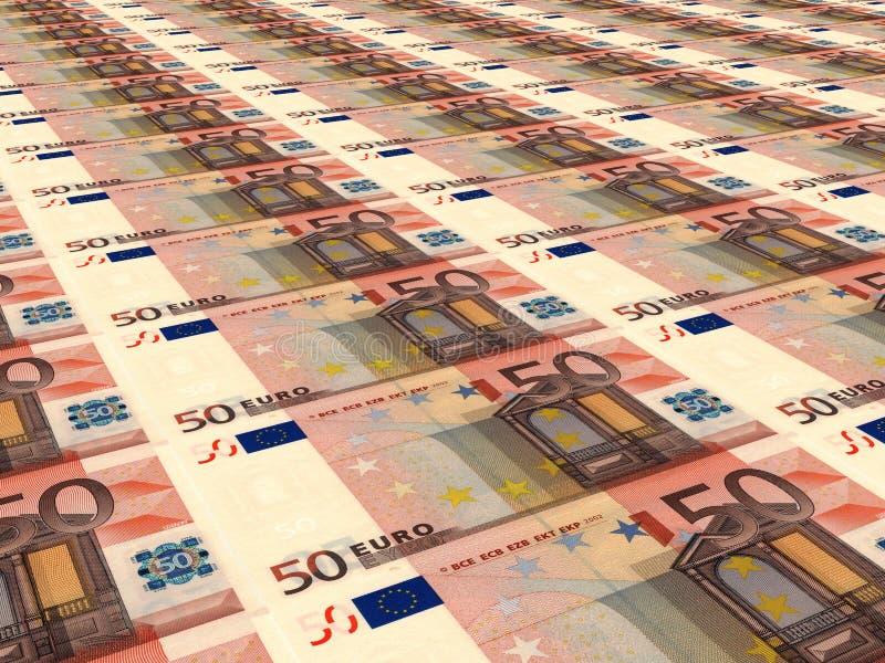 för valutaeuro för bakgrund färgrik european euros femtio stock illustrationer