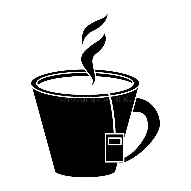 För varm aromatisk pictogram koppört för te royaltyfri illustrationer