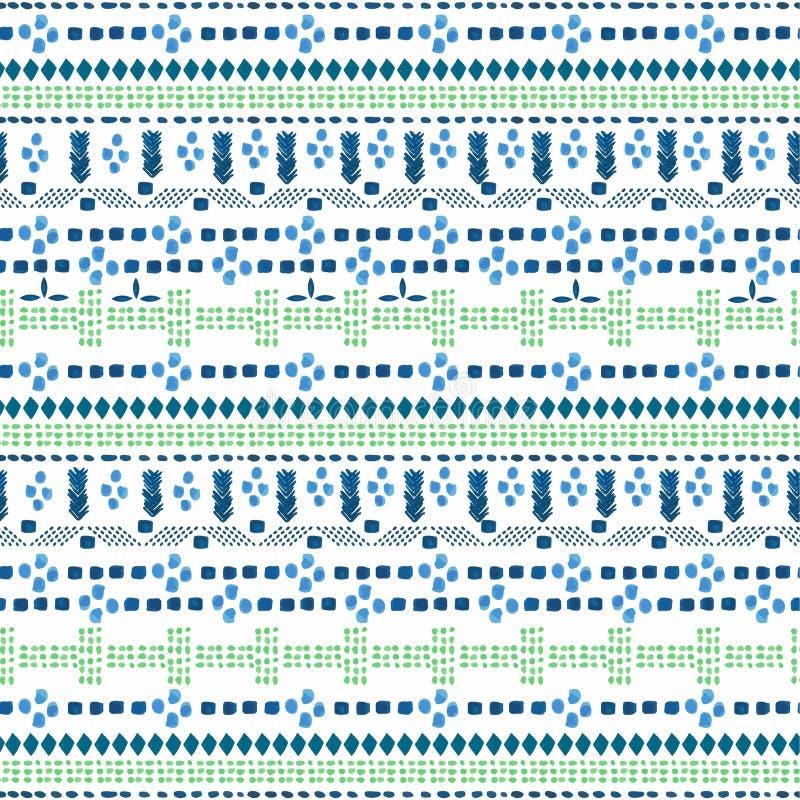 För vattenfärghand för sömlös modell färgrik målarfärg Stilfull backgr vektor illustrationer