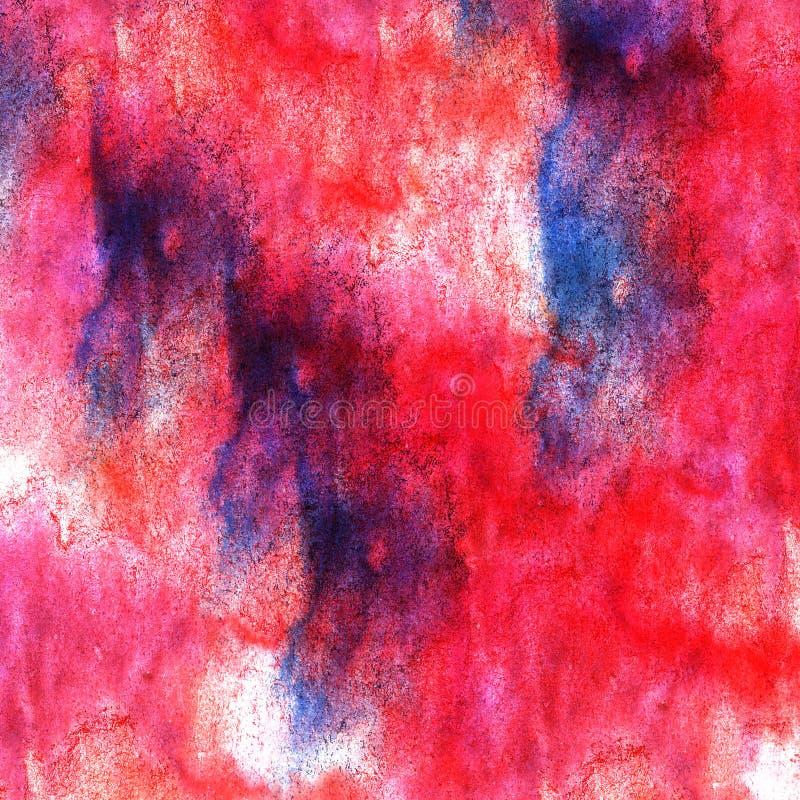 För vattenfärgmålarfärg för konst röd blå akvarell för klick arkivfoto