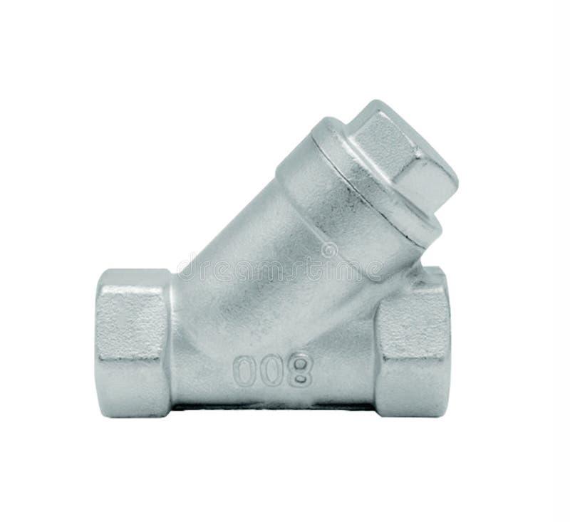 För vattenrör för metall eller för PVC plast- ventil för anslutning, rörmokeri royaltyfri bild