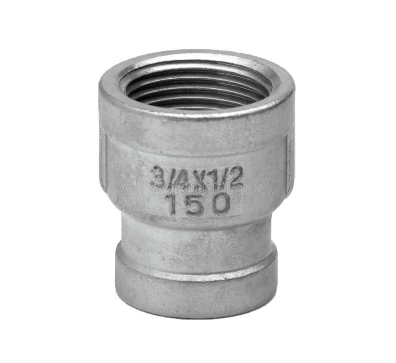För vattenrör för metall eller för PVC plast- ventil för anslutning, rörmokeri royaltyfria foton