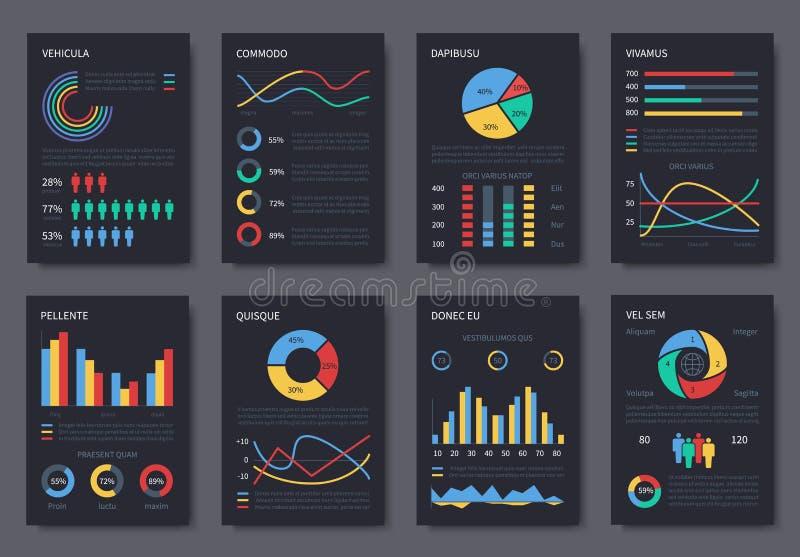 För vektorbroschyr för affär som kan användas till mycket infographic mall för presentation Diagram, diagram och infographicsbest royaltyfri illustrationer