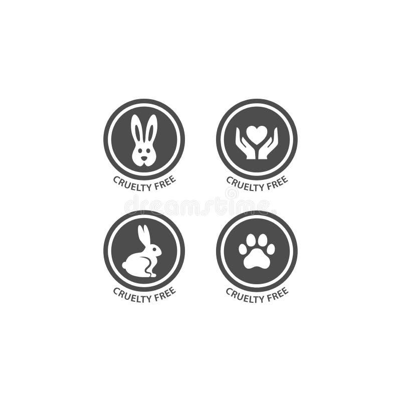 För vektorcirkel för grymhet fri uppsättning för stämpel för etikett royaltyfri illustrationer