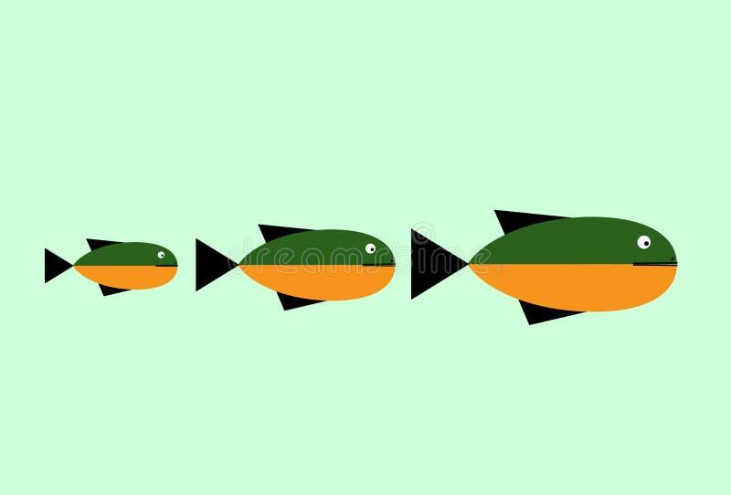 För vektordesign för fisk abstrakt mall för logo Idérikt designbegrepp Havs- restaurangidé vektor illustrationer