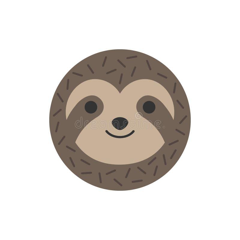 För vektordiagram för gullig rund sengångare djur symbol stock illustrationer
