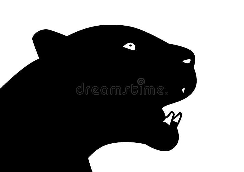 För vektorillustration för svart panter konst vektor illustrationer