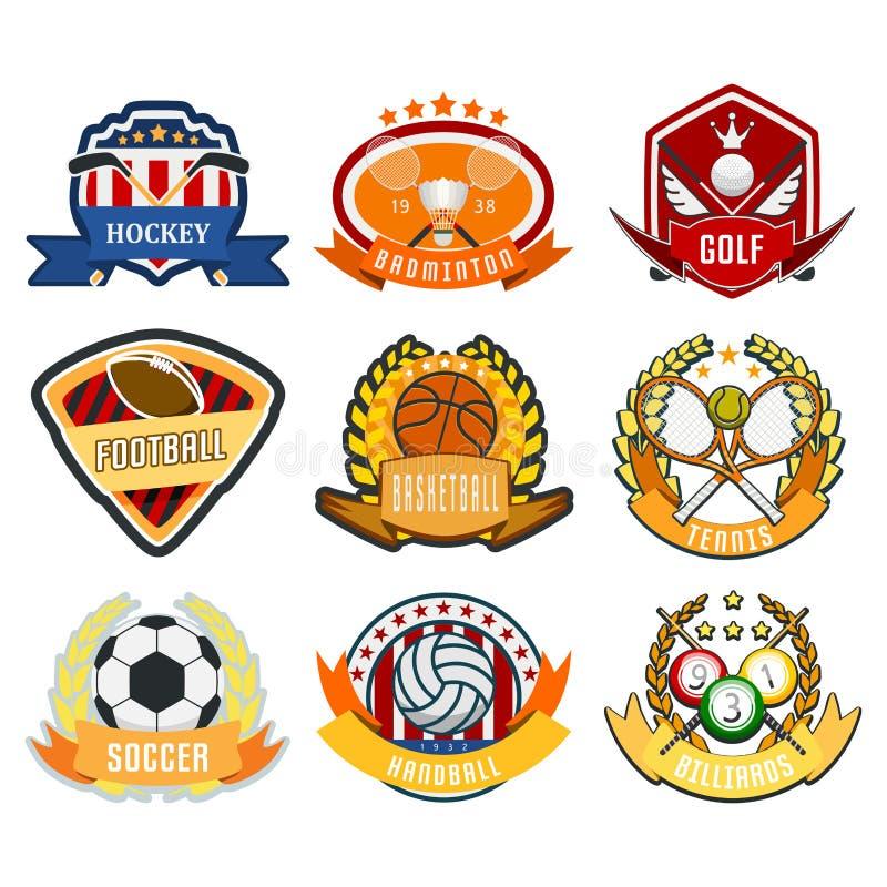 För vektorlag för sport klubba för mästerskap för modigt för logo för lek för turnering för etikett för mästare för emblem för li vektor illustrationer