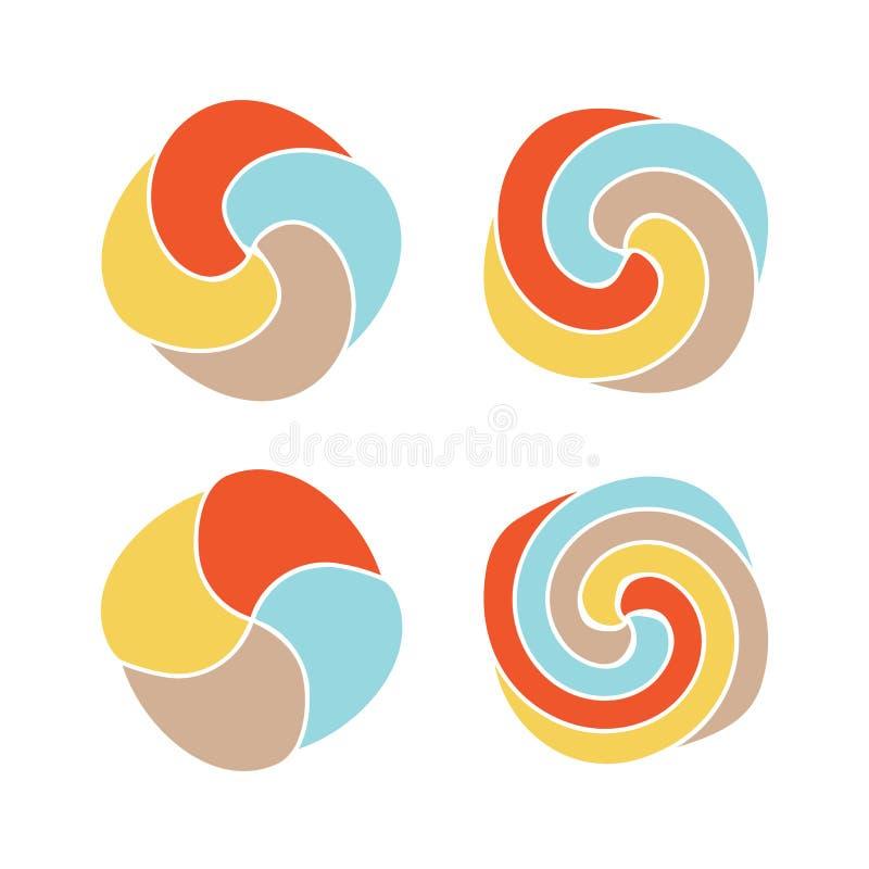 För vektorlogo för klubbor färgrik uppsättning Samling för symboler för bästa sikt för enkel design för godis vektor illustrationer