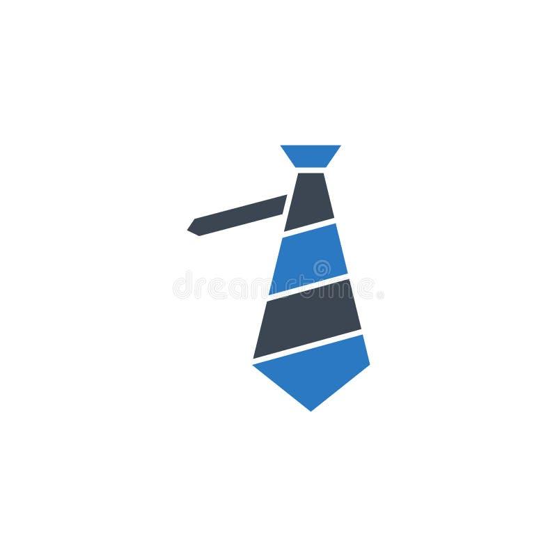 För vektorskåra för slips släkt symbol royaltyfri illustrationer