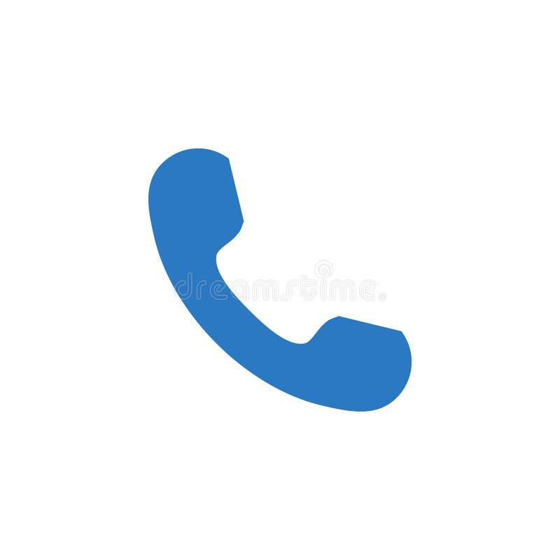 För vektorskåra för telefonlur släkt symbol royaltyfri illustrationer