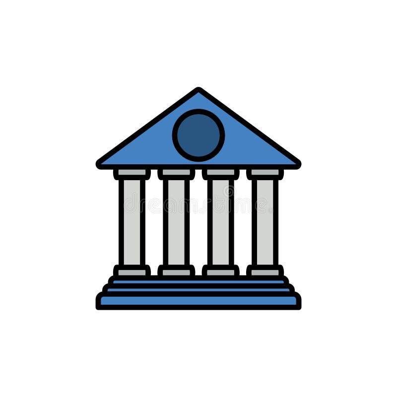 För vektorsymbol för bank plant symbol för tecken stock illustrationer