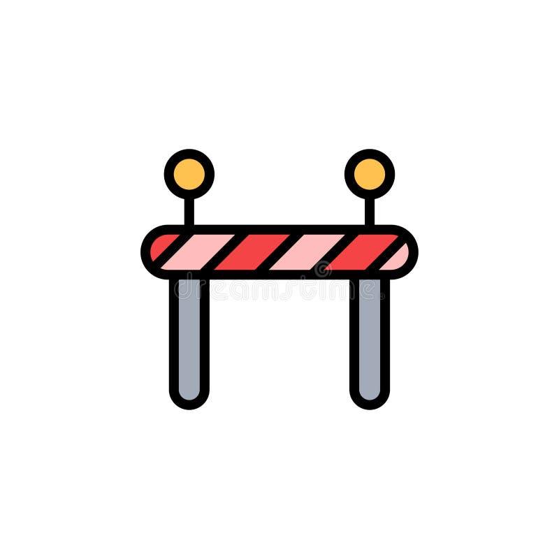 För vektorsymbol för barriär plant symbol för tecken royaltyfri illustrationer