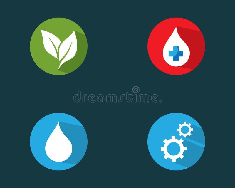 För vektorsymbol för logo fastställd illustration stock illustrationer